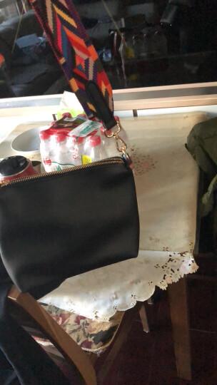 格子旗单肩包女士新款时尚斜挎包简约大容量韩版子母包女士包包送女友礼物 黑色(彩色肩带+黑色肩带)) 晒单图