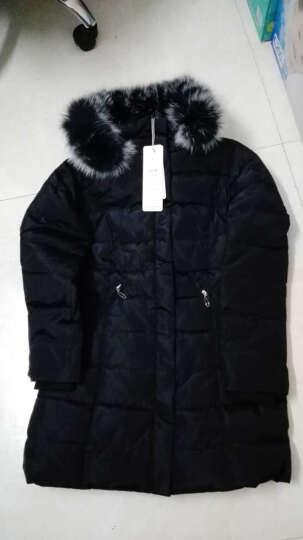 靓仙娜 中长款羽绒服女2017冬季新款大毛领修身大码女装外套女 白色(加长版) XL 晒单图