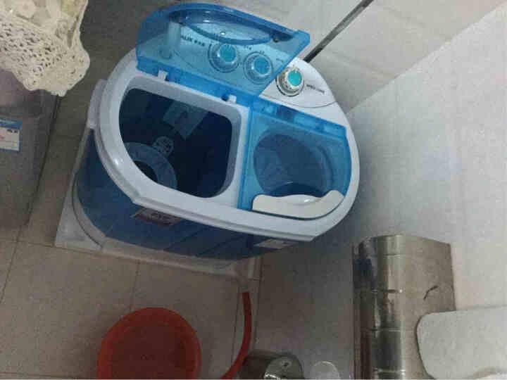 奥克斯(AUX) XPB22-1288S 2.2公斤小型双桶半自动迷你洗衣机 小 天蓝色 晒单图