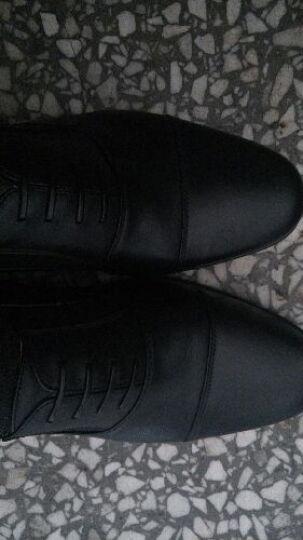 3513巡洋舰品牌皮男正装商务休闲系带常服三节头皮鞋军鞋 黑色系带款 41 晒单图
