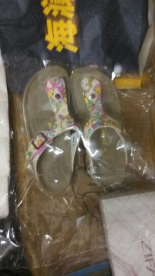 热风2014 软木拖鞋女 夏季新款pu花朵套趾拖鞋女士凉
