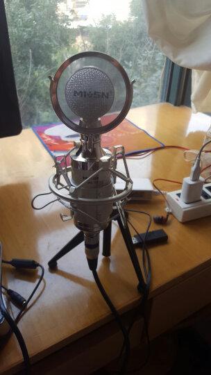 魅声 T6-2 外置声卡电容麦克风套装 手机电脑快手抖音专用K歌主播麦克风话筒 手机直播录音设备全套 白色(赠送铝箱) 晒单图