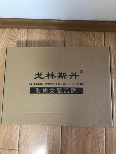 戈林斯丹 秋冬 新款时尚手钩领加厚开衫 100%纯羊绒AHGW01046 墨绿 100/L 晒单图