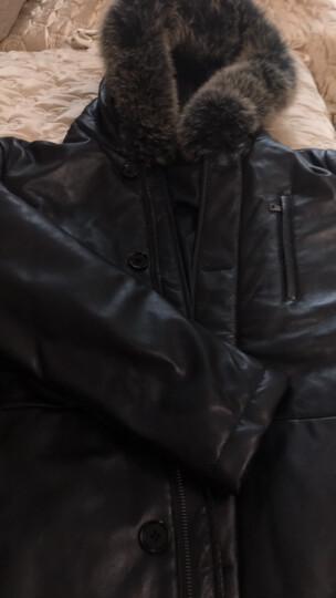 南极人 海宁真皮皮衣男2017冬装新款男士商务休闲绵羊皮羽绒服保暖外套 黑色 L 晒单图