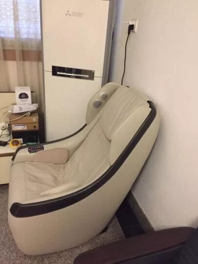 久工(LITEC)日式电动按摩沙发椅 家用小型智能蓝牙音乐全自动多功能SL导轨老人揉捏器办公老板椅 白色 晒单图