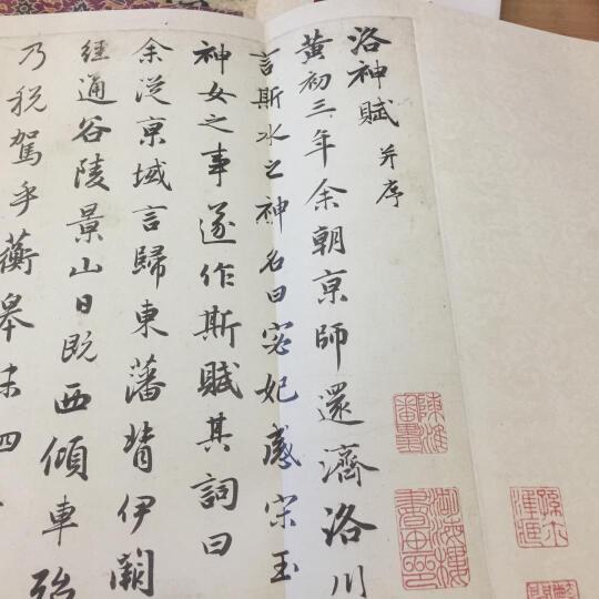 原作坊·中国书法:赵孟頫 洛神赋(折装) 晒单图