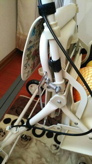 日本一期一会铝合金洗澡椅洗澡凳老人孕妇防滑可折叠沐浴椅浴室凳 带扶手靠背 SBF-10蓝 晒单图