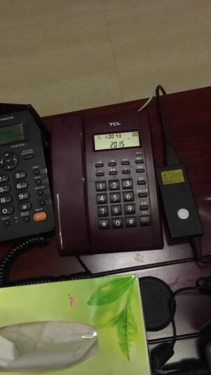 TCL HCD868(79)TSD固定有绳电话机座机来电显示免电池免提座式壁挂家用办公经典有绳方型座机(枣红) 晒单图
