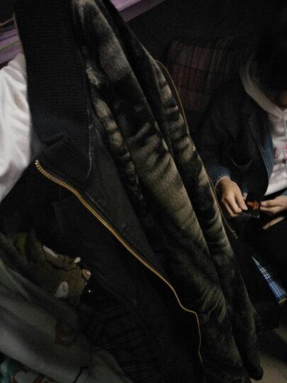 传奇卡丹 防真皮风衣男加绒 反季 清仓 中长款男士防真皮皮衣大码加厚保暖 大码 007黑色 180 XL 晒单图