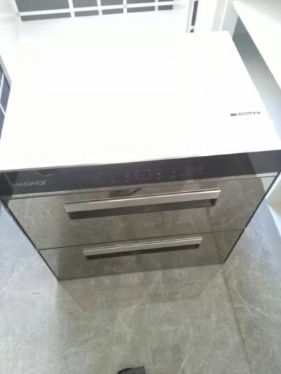 HAOAIQI 好爱妻消毒柜嵌入式家用厨房消毒碗柜 黑色钢化玻璃轻触款按键黑色一体冲压款 黑色(双重杀菌) 晒单图