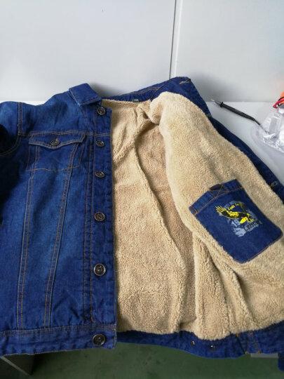 飞米斯(FMIX)牛仔夹克男外套秋冬季薄款韩版修身大码休闲复古加绒加厚牛仔上衣 FL58125牛仔蓝 4XL 晒单图