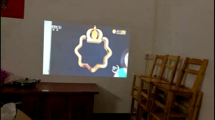 轰天炮LED96投影仪家用智能3D迷你便携办公全高清无线wifi手机投影机家庭影院1080P 9601黑色(大镜头更高清) 旗舰版(带WIFI+蓝牙) 晒单图