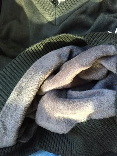 雅鹿2018秋冬季新款男士假两件套头毛衣男韩版修身薄款衬衫领针织衫男上衣男装潮 加绒深灰色1505 170L 晒单图