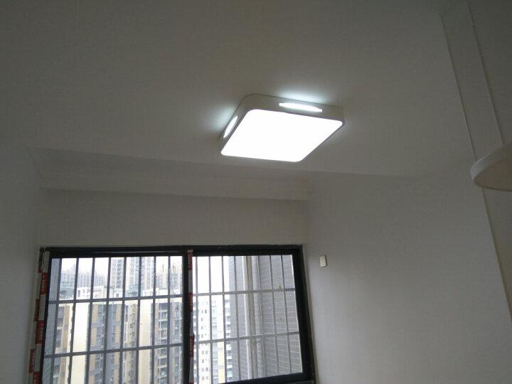朗士(ROSY) led吸顶灯客厅灯长方形现代简约创意水晶灯具套餐卧室灯饰 套餐1:一室一厅(两件套) 无极调光 晒单图