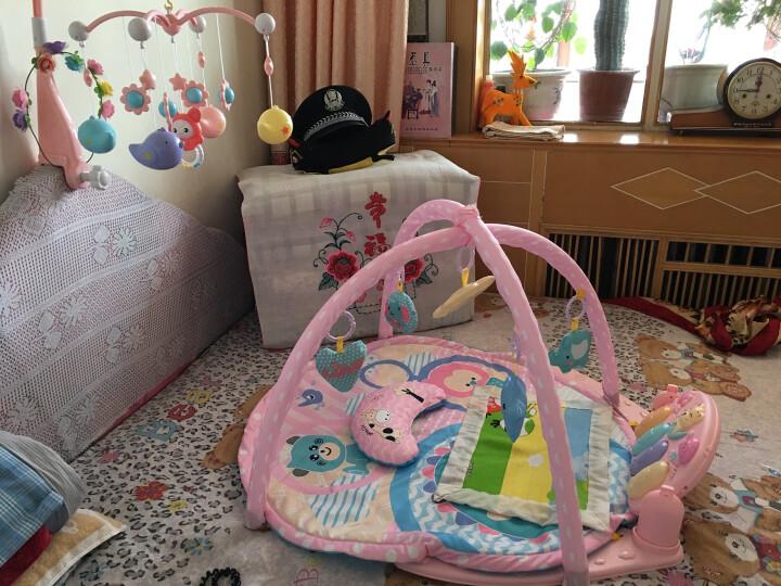 北国e家(The North E home) 婴儿健身架脚踏钢琴音乐遥控游戏毯儿童电子琴 飞机充电版(公主粉) 晒单图