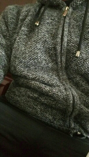 浚威狼(JUNWEILANG)棉衣男外套男装冬季棉服加厚加绒中长款保暖针织衫男开衫夹克外衣服男 1761酒红 XL(建议140-160斤) 晒单图