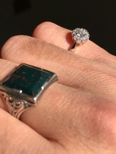 珂兰钻石戒指女群镶白18k金钻戒婚戒定制1-2克拉效果 倾城p 白18K金-90分效果H/SI 晒单图