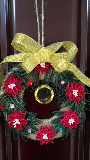俊雅(JUYA)圣诞礼物 衍纸圣诞材料包 花饰礼物 圣诞树 圣诞贺卡 圣诞花环手工礼品 圣诞节花环材料包 晒单图