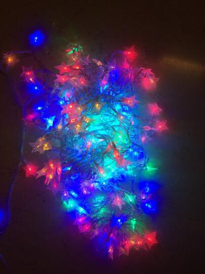 创简坊(CJIANFF)户外小彩灯闪灯串灯节日装饰瀑布灯圣诞灯饰 线灯霓虹led宿舍星星 彩色20米200灯插电款 晒单图