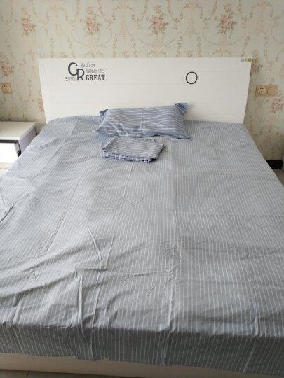 百富帝(byford)全棉四件套 床单式斜纹印花套件简约纯棉双人四件套1.5/1.8米床被套200*230 布鲁斯 晒单图