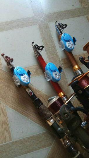 野营者翡翠鸟音乐钓鱼报警器缓冲防水抛竿海竿上鱼电子警报器鱼铃 绿色 晒单图