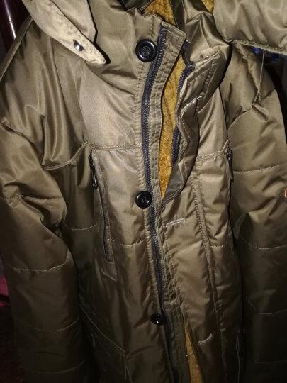勋度 中老年棉衣男中长款 男士棉服加绒加厚加肥加大男装棉袄宽松棉大衣冬季保暖外套爸爸装 土黄色有毛 XXL 晒单图