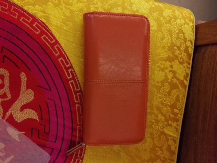 Viney钱包 女长款女士钱包新款女式卡包手拿包女油蜡真皮手包女 浪漫紫 晒单图