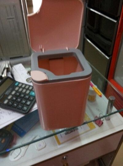 快乐猫(KLM)桌面垃圾桶 按盖垃圾桶 塑料垃圾篓 家用环保清洁桶 GB102 晒单图