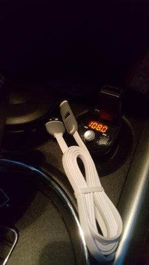 英才星(HSC)车载充电器蓝牙音乐播放器免提电话FM发射器点烟器双USB车载mp3快充 官方标配+三合一线 晒单图