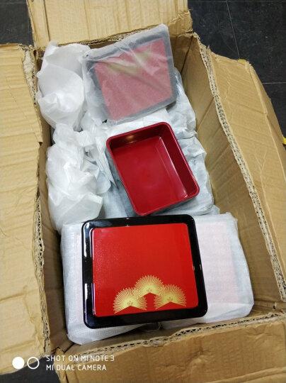 日式饭盒寿司盒料理便当盒子塑料饭盒餐盒饭盒点心外卖盒 松花鼓形桶16.5cm*8cm 晒单图