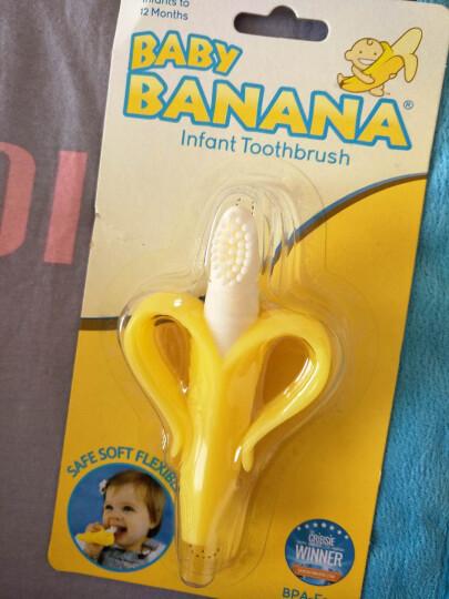 香蕉宝宝(Baby Banana)婴儿玩具硅胶磨牙棒 宝宝安抚牙胶咬咬乐 美国进口婴儿牙刷  玉米款 晒单图
