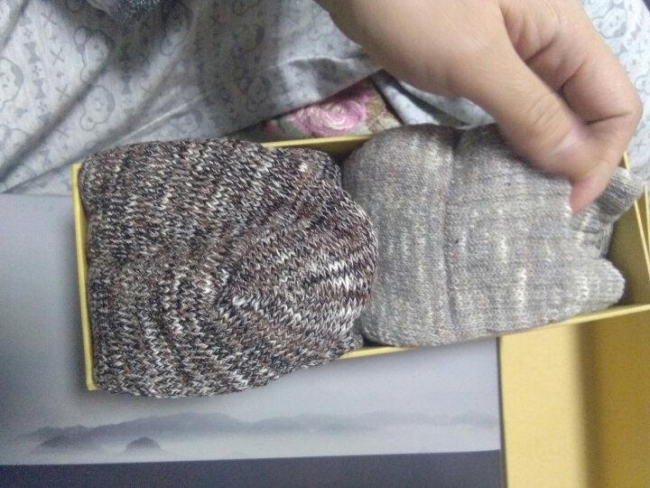保暖连脚袜羊毛连裤袜显瘦打底袜秋冬加厚羊毛袜女拉毛羊绒打底裤 米白 晒单图