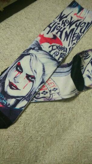 智母(zhimoom)印花街头潮流中筒袜卡通动漫日系嘻哈滑板篮球个性男女长袜子 款五扑克牌(36-42码) 均码 晒单图