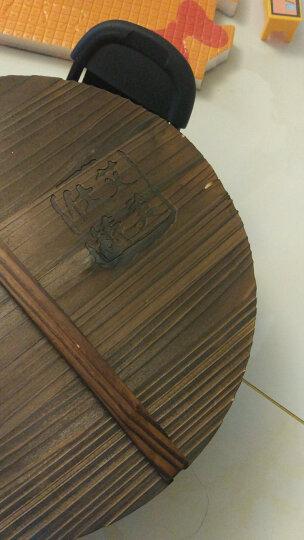 艾美仕精铁炒锅32cm氮化真不锈无涂层铁锅电磁炉燃气通用木盖ATH3202 晒单图