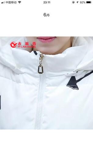 衣岚香2018冬装羽绒服女装新款韩版中长款外套时尚连帽保暖加厚羽绒衣 白色 XL/170 晒单图