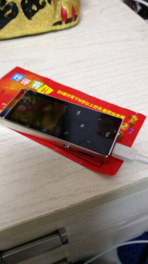 【送耳机OTG】紫光电子 触摸蓝牙外放mp3 mp4播放器金属插卡学生迷你随身听有屏 黑色8G带蓝牙外放 晒单图