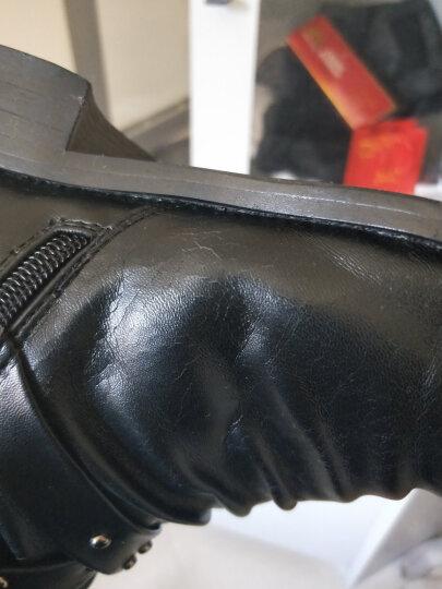 WENDYTDN加绒加厚马丁靴男秋冬新款英伦时尚潮流男靴 黑色加绒 42 晒单图