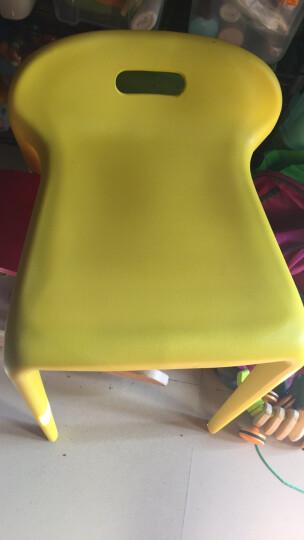 百思宜 椅子创意时尚塑料餐椅小马椅现代简约咖啡厅甜品店备用可叠放凳子 柠檬黄(2个装) 晒单图