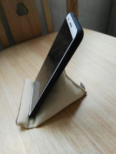 莫凡(Mofi)手机支架 创意懒人配件床头桌面座看电视平板pad支架通用手机绒布支架 橙色 晒单图