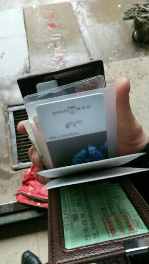 耐捷驾驶证套 行驶证套商务卡套卡包 男士驾照夹 生日礼物 男女通用 棕色 晒单图
