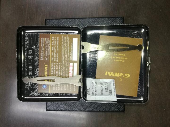 创意超薄烟盒皮 防潮防压金属烟盒20支装薄香烟盒20支复古香烟盒香烟壳烟盒子 清明上河图 晒单图