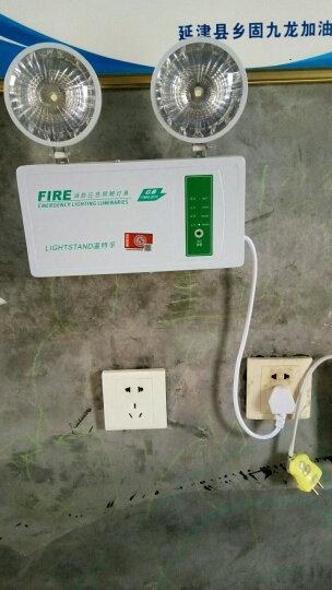 温特孚双头消防应急灯新国标安全出口led停电充电照明灯紧急疏散指示灯 精品款 晒单图