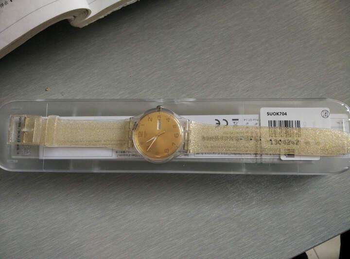 斯沃琪(Swatch)瑞士手表 原创炫彩系列金色闪烁 石英女表SUOK704 晒单图