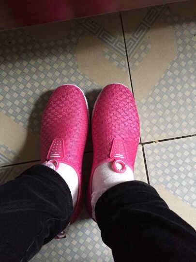 人本帆布鞋网布鞋女夏季 超轻跑步鞋 纯色情侣网鞋 透气学生鞋 玫红 39 晒单图