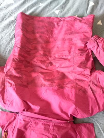 杜戛地(DZRZVD) 冲锋衣 三合一 两件套 户外服装 冲锋衣裤 男 女 迷彩服 登山服 玫红(女款) L/码 晒单图