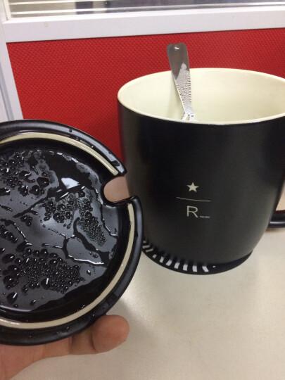 40周年陶瓷杯限量黑色雕刻陶瓷马克杯创意陶瓷水杯咖啡杯礼物带盖带勺 黑色 晒单图