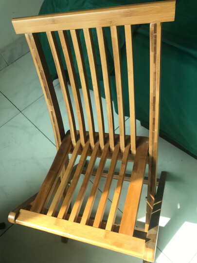 竹咏汇 靠背椅 折叠椅 休闲椅逍遥椅餐椅坐椅躺椅板凳实木竹制办公会议复古户外休息椅子 小靠背椅56高 晒单图
