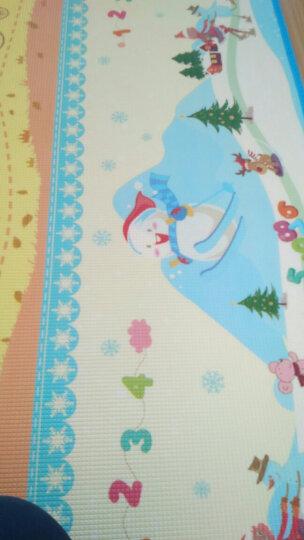 曼龙爬行垫XPE材质加厚2cm爬行毯双面婴幼儿童爬爬垫泡沫垫宝宝环保地垫 长颈鹿量身高+梦幻四季(双面环保) 250*180*2cm(双面图案+包边) 晒单图