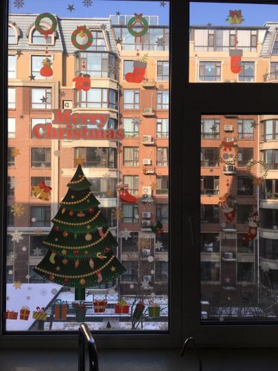 【2件8折】圣诞节橱窗玻璃贴纸装饰品墙贴纸玻璃贴膜节日布置可移除吊坠墙贴纸 圣诞夜奇迹 大 晒单图