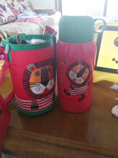 虎牌Tiger儿童保温杯 双盖保温水杯保冷吸管杯 不锈钢双层杯子运动水壶(送杯套)MBR-S06C-R小狮子600ml 晒单图